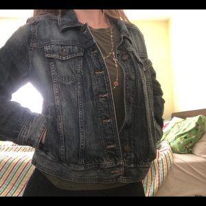 Express denim jacket women's EUC size large